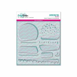 CarlijnDesign Stencil Snowglobe