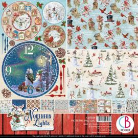 Ciao Bella - Northern Lights  - Dubbelzijdige patronen pad 30,5 cm x 30,5 cm. - CBT038