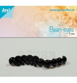Joy!Crafts Bean-eyes 11 mm Zwart