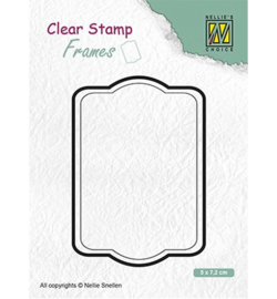 Nellies Choice Clearstamps Frames - Rectangle CSFR002