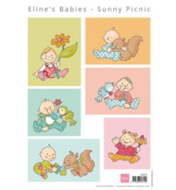 Marianne D 3D Knipvellen Eline's  Baby's  Backgrounds AK0074
