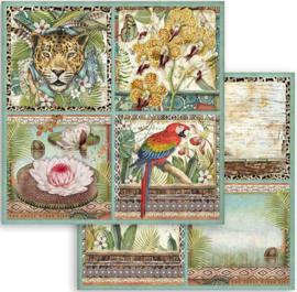 Stamperia - Amazonia -Cards  -Paper - 30.5  x 30.5  cm