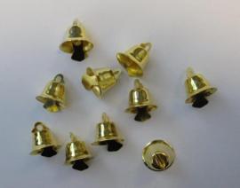 Klokjes goudkleur  15 mm   10 ST   -   801400/4414