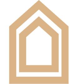 MDF Set van 2 huisjes