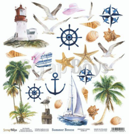 ScrapBoys Summer Breeze paper cut out elements DZ SUBR-07