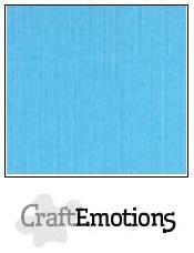 CraftEmotions linnenkarton 10 vel  Aqua  30,5x30,5cm