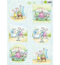 Marianne Design - A4 Knipvel Hetty -  Mice  - HK1709