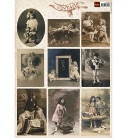 Marianne Design Vintage Flower Children 2 VK9541