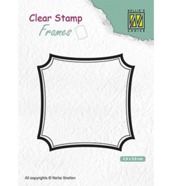 Nellies Choice Clearstamps Frames - Square CSFR001