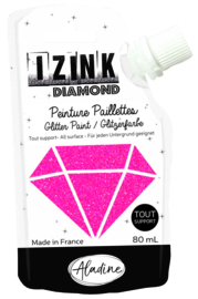 IZINK Diamond glitterverf/pasta - 80 ml, hardroze - 80827