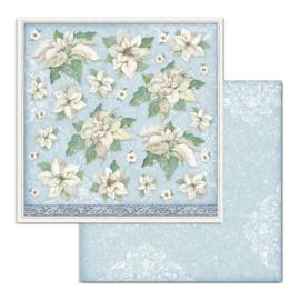 Stamperia - Winter Tales - Paper - 30,5 x 30,5 cm  Poinsettia