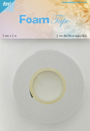 Joy! Crafts Foam tape - 2 mm x 5 mm  x  2 meter  6500/0026