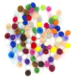 Mix Pom-Pom set - assorti  - 100 stuks