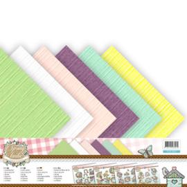Linnenpakket - Scrap - Yvonne Creations - Spring tastic 30,5 x30,5 cm.