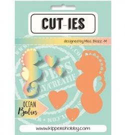 CUT-IES Snij- en Embosmal Ocean Babies - Seahorse-Hearts -20068