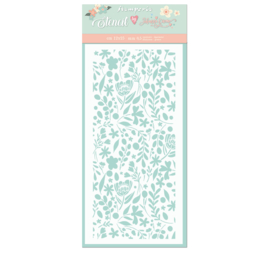 Stamperia Thick Stencil - 12x25cm - Small Flowers