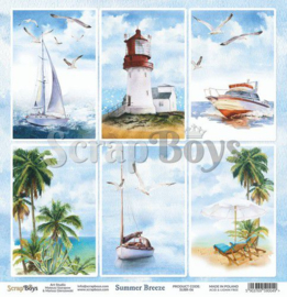 ScrapBoys Summer Breeze paper sheet DZ SUBR-06