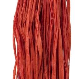 Natuur Raffia 25 gram Rood kleur nr 20