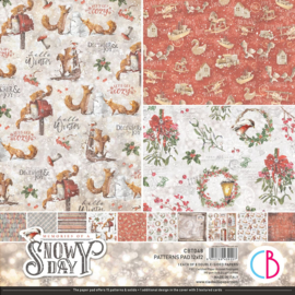 Ciao Bella -Memories of a Snowy Day -Patterns Pad -30.5x30.5 cm CBT048