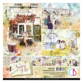 Ciao Bella - Notre Vie - Dubbelzijdig Creative Pad - 20,3 x 20,3 cm - CBH045