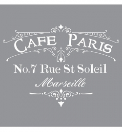 Americana Decor Stencils Cafe Paris ADS02