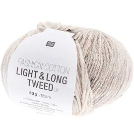 Rico Fashion Cotton Light & Long Tweed  - 383281.007  -  Grau
