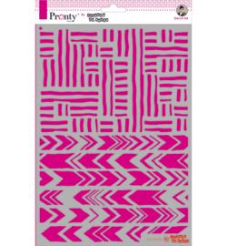 Pronty  Mask Stencils - Jolanda de Ronde - Stripes  A4