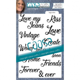 COOSA Crafts • Clear Stempel A6 Love my jeans - Large notes