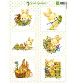 Marianne D 3D Knipvellen Easter Bunnies VK9555