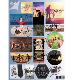 Joy!Crafts Stansvel Vaderdag 6013/0333 - 2 sheets