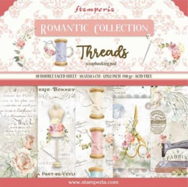 Stamperia - Romantic Threads - Paperpad 30,5 x 30,5 cm