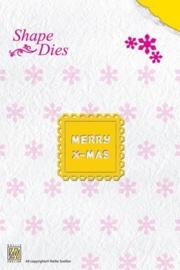 Nellie Snellen Shape Dies - Merry Christmas  SD 018