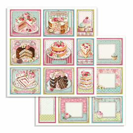 Stamperia - Sweety - Paper - 30,5 x 30,5 cm. - Cakes