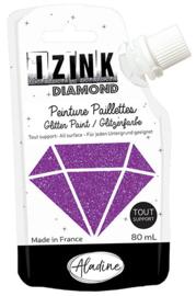 IZINK Diamond glitterverf/pasta - 80 ml, violet - 80823