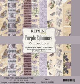 Reprint - Purple Ephemera Collection - 30,5 x 30,5 cm.