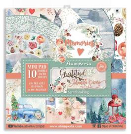 Stamperia - Gratitude - Paperpad 20,3 x 20,3 cm