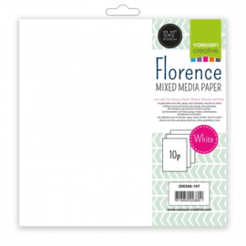 Vaessen Creative - Florence mixed media papier wit 30,5x30,5cm - 10 vel