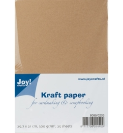 Kraft Papier A4 / 29,7 x 21 cm  300 gr.