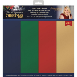 Crafter's Companion Twas the Night Before Christmas - Pearlescent Paper Pad - 30.5 x 30.5 cm