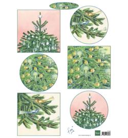 Marianne Design- A4 Knipvel - Tiny's Christmas Trees -  IT598
