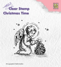 Nellies Choice Clearstamps Little Angel Decorating CT016