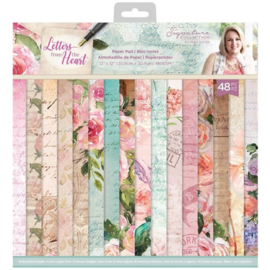 Crafter's Companion - Letters From The Heart - Paper Pad - 30.5 x 30.5 cm