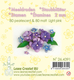 Leane Creatief - Meeldraden Matt & Pearl -  Light Pink