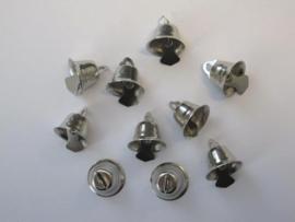 Klokjes zilver  15 mm   10 ST   -   801400/4404