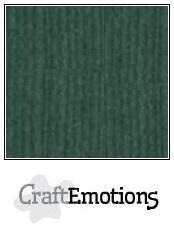 CraftEmotions Linnenkarton A4 Formaat 10 vel - Smaragdgroen