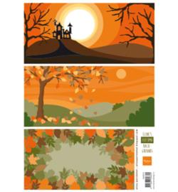 Marianne D 3D Knipvellen Eline's  Autumn Backgrounds AK0073