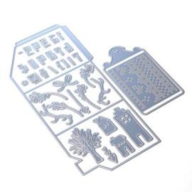 Elizabeth Craft Designs - Stansmallen Winter Home Pocket - 1820