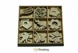 CraftEmotions Houten/Vilten Ornamenten