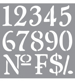 Americana Decor Stencils Olde World Numbers ADS09