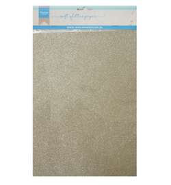 Marianne Design Decoration Paper - Soft Glitter Platinum  - CA3144